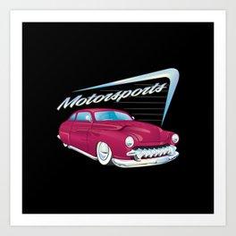 Classic automotive Mercury Art Print