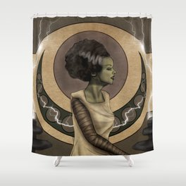 Bride of Frankenstein Nouveau Shower Curtain