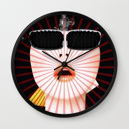 Master of Light · Monolithic Baby (Collab with the Great, Amazing & WildCrazy Hugo Barros) Wall Clock