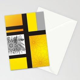 Sunflower Doodle on bright bold background Stationery Cards