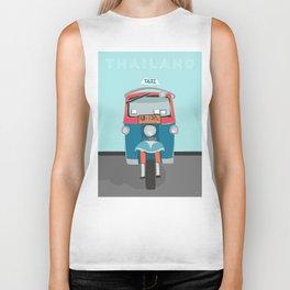 Thailand Tuk Tuk Taxi Travel Poster Biker Tank