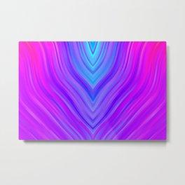 stripes wave pattern 3 sm120i Metal Print