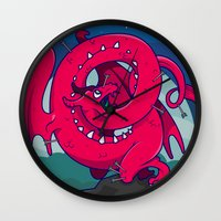 skyrim Wall Clocks featuring Last of the Dovah (Skyrim) by Andrea Meli