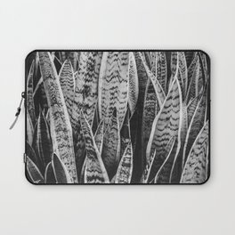 Plant Photography Tropical Exotic Plants Snake Plant Tongue Beauty Wild Nature Black and White Laptop Sleeve