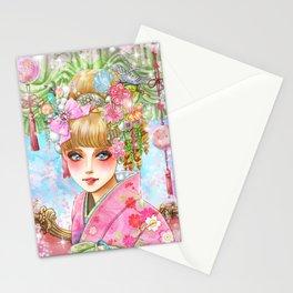 Cover girl /Sakura Stationery Cards