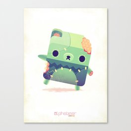 Zombie Bear Canvas Print