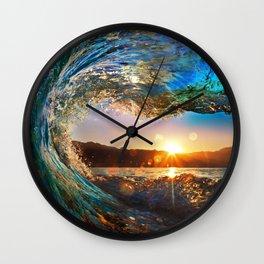 Beach - Waves - Ocean - Sun   Wall Clock