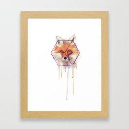 Bonjour Fox!! Framed Art Print