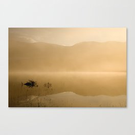 Misty reflections at sunrise Canvas Print