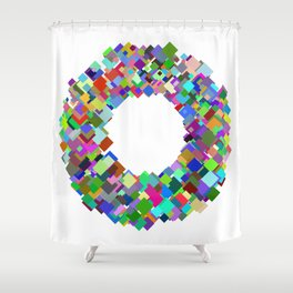720 squares Shower Curtain