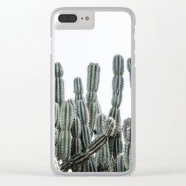 Minimalist Cactus Clear iPhone Case