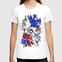 american T-shirts featuring AMERICAN  by Robleedesigns
