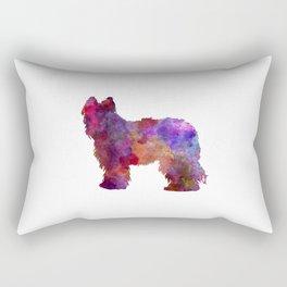 Briard in watercolor Rectangular Pillow