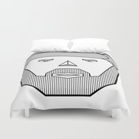 the dude Duvet Covers featuring Dude by Martin Heinemann