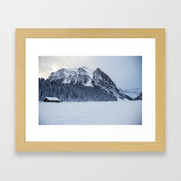 Snowy Mountain Framed Art Print
