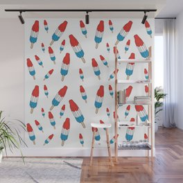 Bomb Pops Ice Cream Pattern Wall Mural