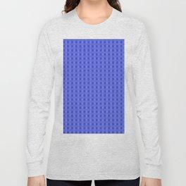 Retro Blue Squares Long Sleeve T-shirt