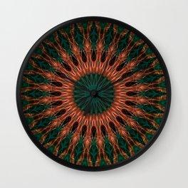 Mandala in red and brown tones Wall Clock