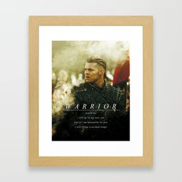 Warrior Watch Me - Ivar The Boneless Framed Art Print
