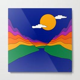 Rainbow Ravine Metal Print