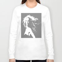 britney Long Sleeve T-shirts featuring Pretty Britney by Dora Birgis