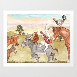 Pasture Music Art Print