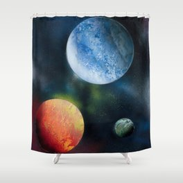 Celestial Triad Shower Curtain