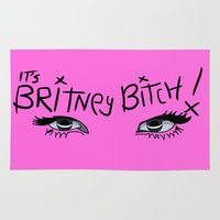 britney spears Area & Throw Rugs featuring Britney Spears Eyes by Alli Vanes