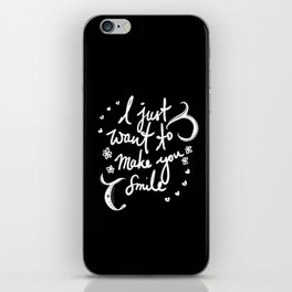 Ziall: I Just Want To Make You Smile iPhone Skin