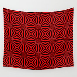 Red Abstract Modern Pattern Art Design Wall Tapestry