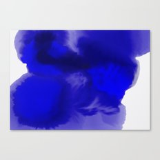 Blue Watercolor Abstract Canvas Print