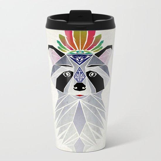 raccoon spirit Metal Travel Mug