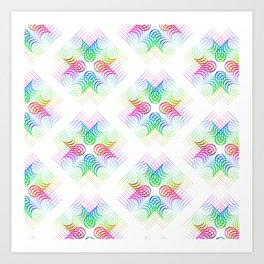 Colorful Rainbow Pattern Art Print
