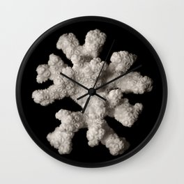 White dried coral branch Wall Clock