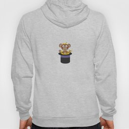 sweet monkey with bananas in hat Hoody