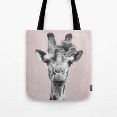 Portrait of Giraffe Tote Bag
