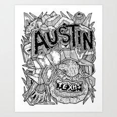 Geometric Mutations: Austin, TX Art Print