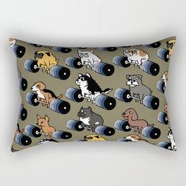 5 plates deadlift Puppies Rectangular Pillow