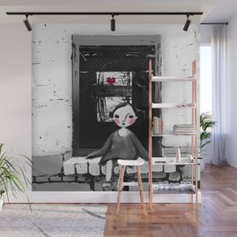 Niña en la ventana Wall Mural