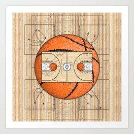 Basketball Court Team Sports Design Art Print