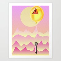 bombs away Art Prints featuring Bombs Away by charles lee