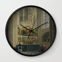 Pierre François De Noter - The Ghent Altarpiece by the van Eyck Brothers in St Bavo Cathedral in Ghe Wall Clock