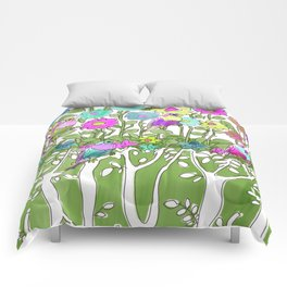 Birds among the trees #1 Comforters