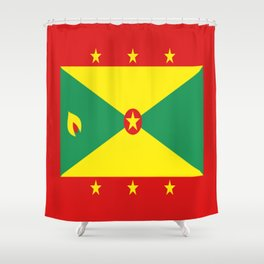 Grenada Flag Throw design Shower Curtain