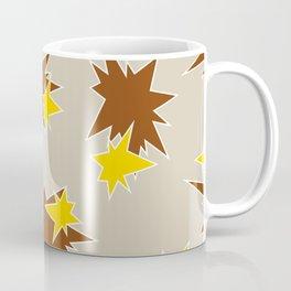 Stars (Brown & Gold on Sand) Coffee Mug