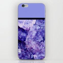Periwinkle Geode iPhone Skin