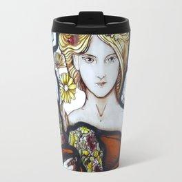 Stained Glass Art Nouveau Roundel Travel Mug