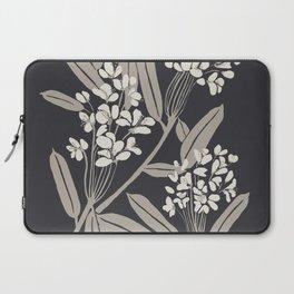 Boho Botanica Black Laptop Sleeve