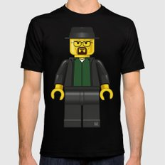 Lego Walter White - Vector Black Mens Fitted Tee LARGE