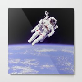Astronaut on a Spacewalk Metal Print